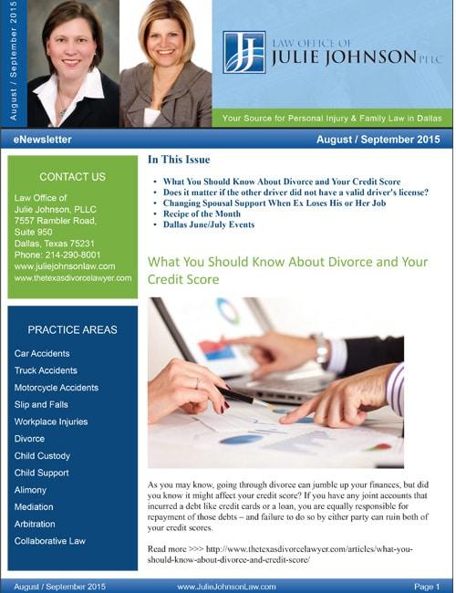 August September 2015 eNewsletter