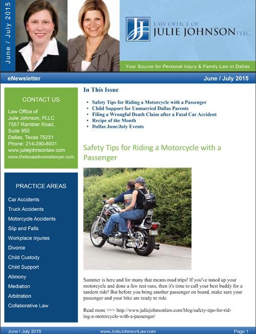 June July 2015 eNewsletter